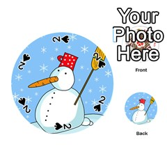 Snowman Playing Cards 54 (Round)