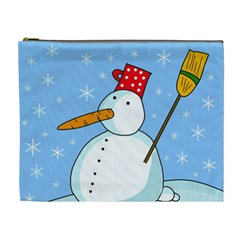 Snowman Cosmetic Bag (XL)
