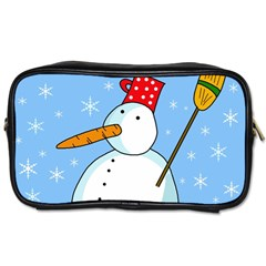 Snowman Toiletries Bags 2-Side