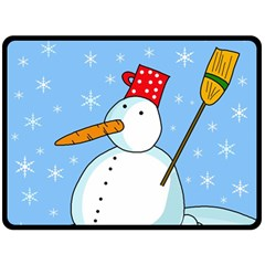 Snowman Fleece Blanket (Large)