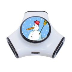 Snowman 3-Port USB Hub