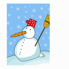 Snowman Small Garden Flag (Two Sides)