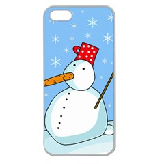 Snowman Apple Seamless iPhone 5 Case (Clear)