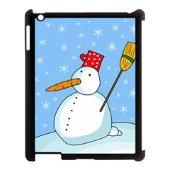 Snowman Apple iPad 3/4 Case (Black)