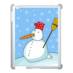 Snowman Apple iPad 3/4 Case (White)