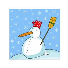 Snowman Small Satin Scarf (Square)