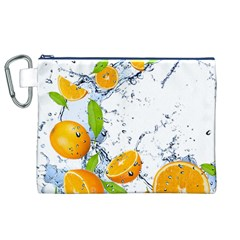 Fruits Water Vegetables Food Canvas Cosmetic Bag (XL)