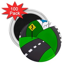 Hit the road 2.25  Magnets (100 pack)