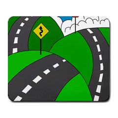 Hit the road Large Mousepads