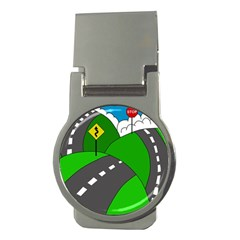 Hit the road Money Clips (Round)