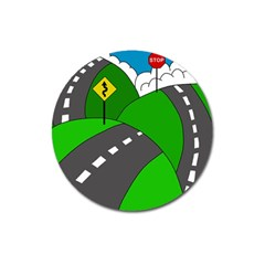 Hit the road Magnet 3  (Round)