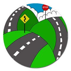 Hit the road Magnet 5  (Round)