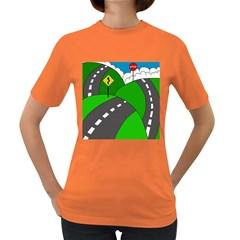 Hit the road Women s Dark T-Shirt