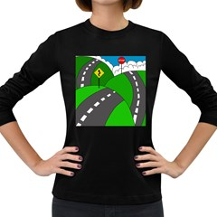 Hit the road Women s Long Sleeve Dark T-Shirts