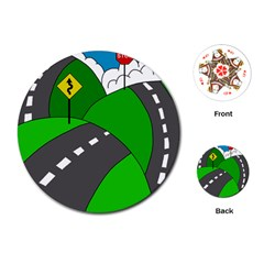 Hit the road Playing Cards (Round)