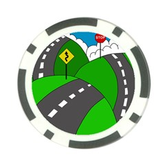 Hit the road Poker Chip Card Guards