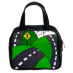 Hit the road Classic Handbags (2 Sides)