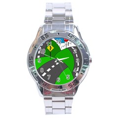 Hit the road Stainless Steel Analogue Watch