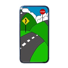 Hit the road Apple iPhone 4 Case (Black)
