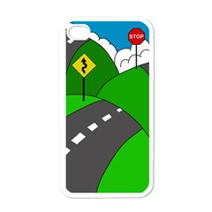 Hit the road Apple iPhone 4 Case (White)