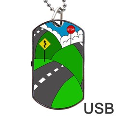 Hit the road Dog Tag USB Flash (Two Sides)