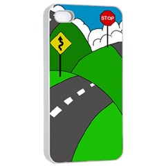 Hit the road Apple iPhone 4/4s Seamless Case (White)