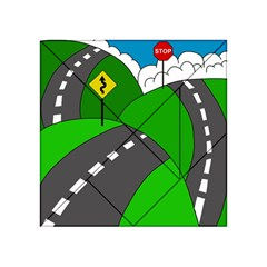 Hit the road Acrylic Tangram Puzzle (4  x 4 )