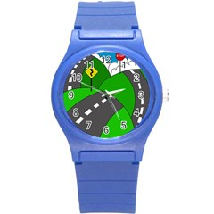 Hit the road Round Plastic Sport Watch (S)