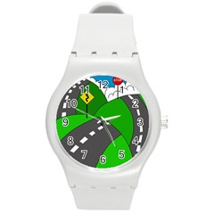 Hit the road Round Plastic Sport Watch (M)