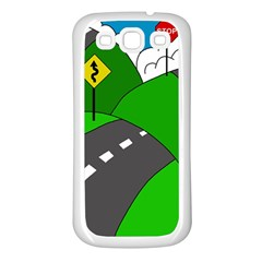 Hit the road Samsung Galaxy S3 Back Case (White)