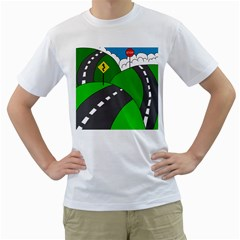 Hit the road Men s T-Shirt (White)