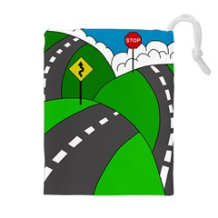 Hit the road Drawstring Pouches (Extra Large)