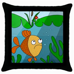 Are you lonesome tonight Throw Pillow Case (Black)