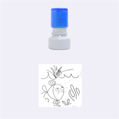 Are you lonesome tonight Rubber Round Stamps (Small)