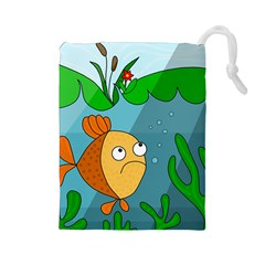 Are you lonesome tonight Drawstring Pouches (Large)