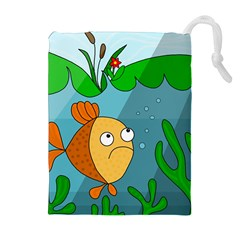 Are you lonesome tonight Drawstring Pouches (Extra Large)