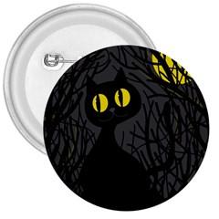 Black cat - Halloween 3  Buttons