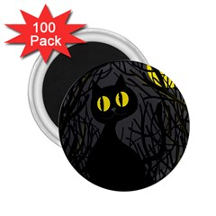 Black cat - Halloween 2.25  Magnets (100 pack)