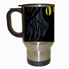 Black cat - Halloween Travel Mugs (White)
