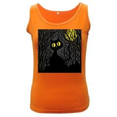 Black cat - Halloween Women s Dark Tank Top