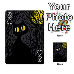 Black cat - Halloween Playing Cards 54 Designs