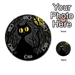 Black cat - Halloween Playing Cards 54 (Round)