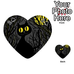 Black cat - Halloween Playing Cards 54 (Heart)