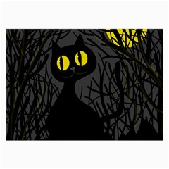 Black cat - Halloween Large Glasses Cloth