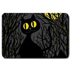 Black cat - Halloween Large Doormat