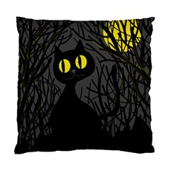 Black cat - Halloween Standard Cushion Case (Two Sides)