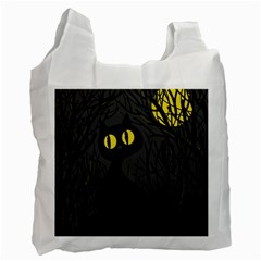Black cat - Halloween Recycle Bag (One Side)