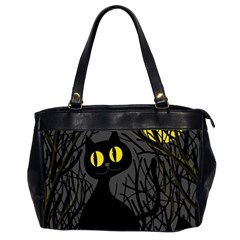 Black cat - Halloween Office Handbags (2 Sides)