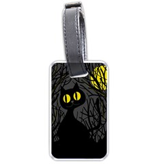 Black Cat   Halloween Luggage Tags (one Side)