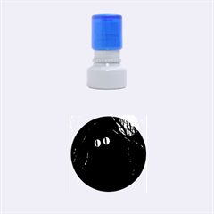 Black cat - Halloween Rubber Round Stamps (Small)